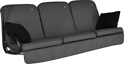 Angerer 4785/136 Primero Style Schaukelauflage Style, Grau, 3-Sitzer (ohne Schaukel)