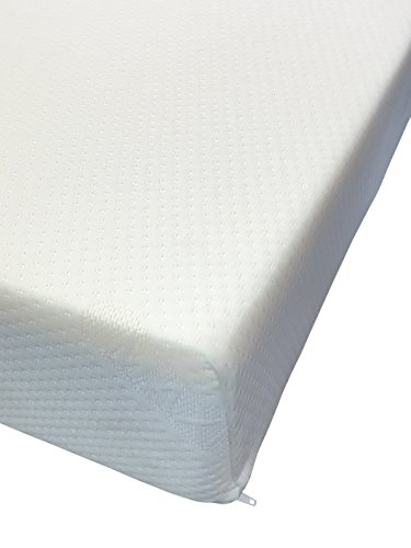 8' Deep Memory Foam Mattress by eXtreme Comfort in Plain White Zipped Cover...