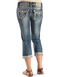 Miss Me Destructed Capri Jeans