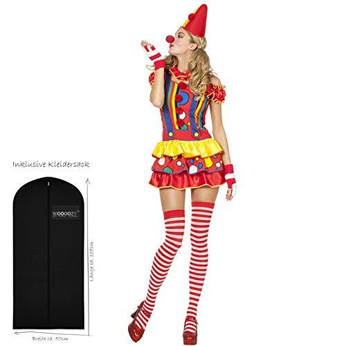 PARTY DISCOUNT NEU Damen-Kostüm Sexy Clown Bubbles Gr. 36