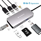 VANKYO USB C Hub, 8-in-1 USB C Adapter with 1Gbps Ethernet Port, 4K...