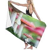 Toalla,Shower Towels,Beach Towels,Bathroom Towels,Toallas-Seta Amanita Muscaria,140CM X70CM