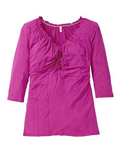 Sheego -  T-shirt - Basic - Opaco - Donna rosa 48