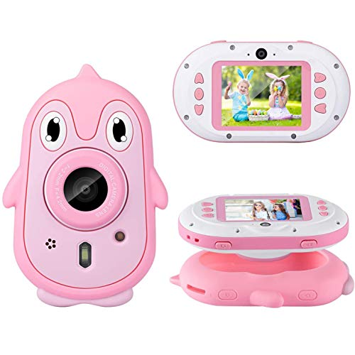 Waterdichte camera voor kinderen speelgoed voor 4-12 jaar oude jongens Meisjes Kerst Verjaardagscadeautjes, digitale onderwatercamera voor kinderen met 1080P 2,4L,Pink