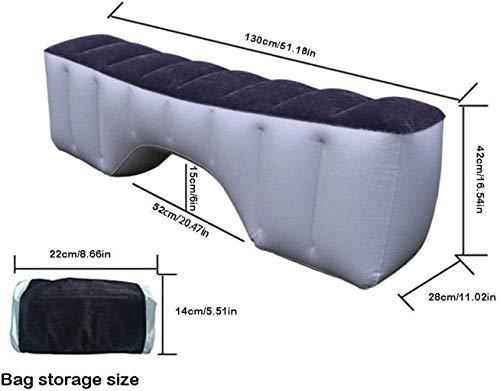 Lit Voyage Voyage Lit Car Auto Intérieur Lit voiture Matelas gonflable Retour Seat Gap Pad Air Bed Coussin Bed Visite libre de conduire voiture Voyage Camping 5-23 Pompe à air de lit gonflable sûre et