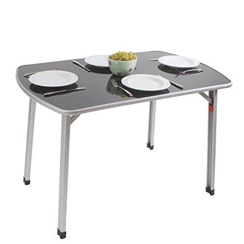 Siehe Beschreibung Outdoor Tisch mit verstellbaren Beinen leichtes Aluminiumgestell 110 x 70 cm • Campingtisch Gartentisch Klapptisch Koffertisch Falttisch Bierzelttisch