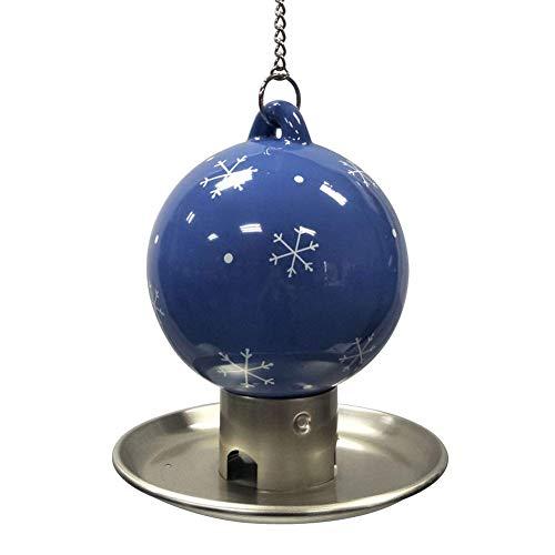 Vogelhäuschen, Gartenvogelhäuschen Schneeflocke Keramikhaken Metallchassis Vogelhäuschen [blau]