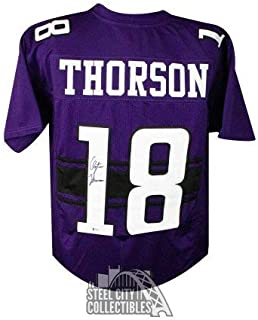 Clayton Thorson Autographed Signed Northwestern Custom Football Jersey - BAS COA