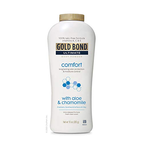 Gold Bond Ultimate Comfort Body Powder 10 oz. (Pack of 3), Talc-Free Formula with Aloe & Chamomile