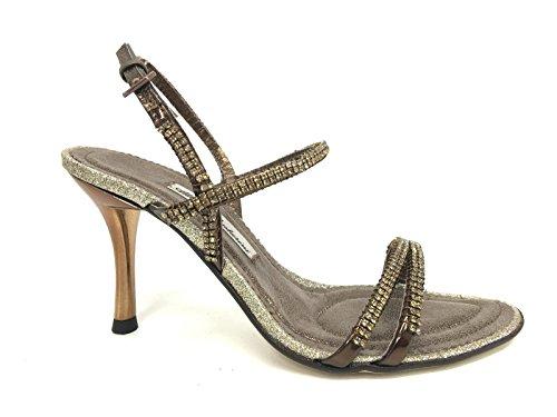 Sandalo GIOIELLO Strass Bronzo WHY VENTURINI TACCO 8CM PE 2016 DS16AV06