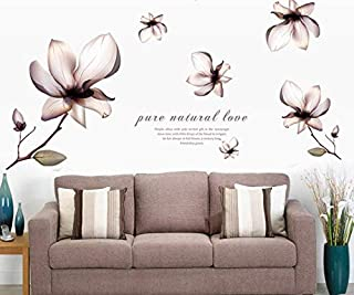 Romantic fantasy flower decoration bedroom TV setting marriage room Home Furnishing applique wall stickers-xx