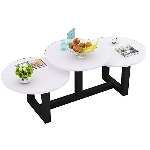 Zaixi Table d'appoint, Table Basse Ronde, Structure en métal, 3 Ordinateurs de Bureau Brillants, Petite Table créative et décontractée (8 Couleurs Disponibles) Forte capacité portante (Couleur : F)