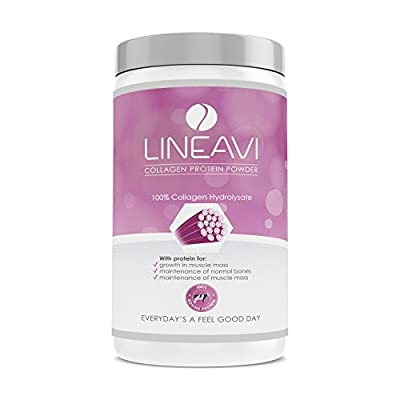 LINEAVI Collagen Protein Powder, 100% Collagen hydrolysate from Hormone and antibiotic Free Cattle, 410g
