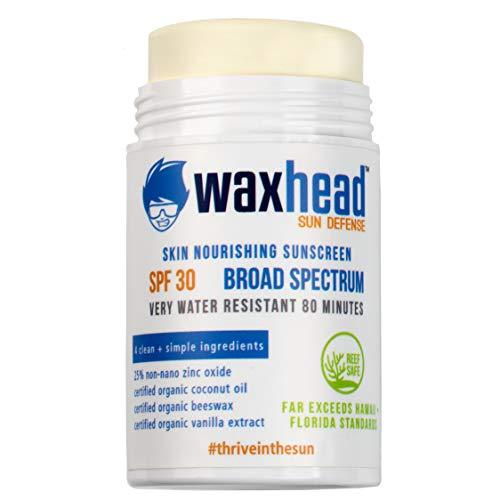 Waxhead HUGE Zinc Oxide Sunscreen Stick - Baby Sunscreen, Surfing Sunscreen, Tattoo Sunscreen, Sunscreen Zinc, Zinc Oxide Sunscreen Face, Non-Toxic, Biodegradable, EWG Rated 1 (SPF 30)