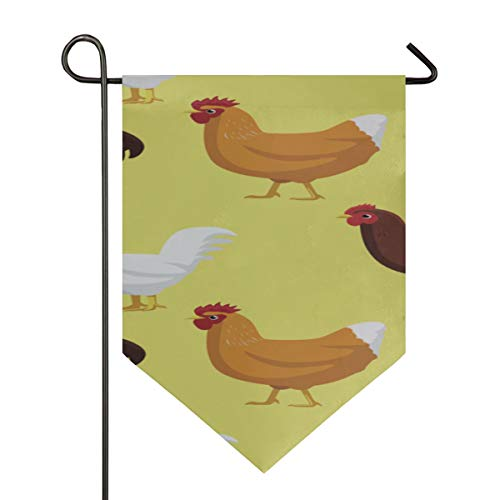 Home Garden Flags Chicken Cornish Cross Wallpaper Vertical Double Sided Yard Outdoor Decorative 12 X 18.5 Inch Holiday Seasonal Outdoor Flag