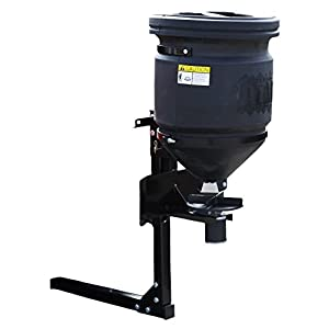 Buyers Products UTV All Purpose Spreader, 150 lb. Capacity with Lid, Black