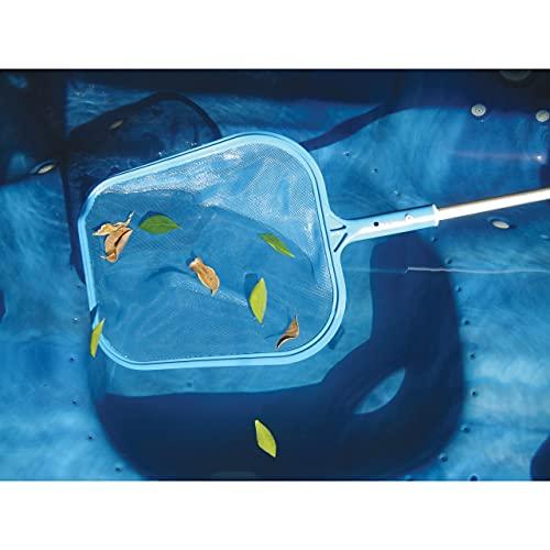 "Offizielles ""Leben"" Schwimmbad Blatt Netz Schaumlöffel mit Teleskopstange, Ausziehbarer Schwimmbad & Whirlpool Netz - 5"