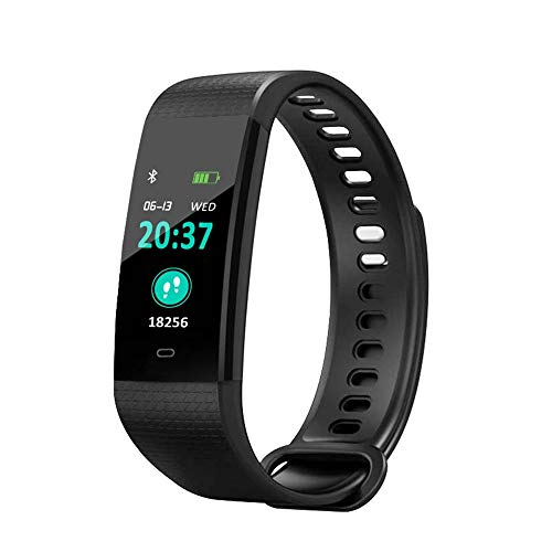 Lbyhning Fitness Trackers, Smart Sport Horloge Fitness Tracker Hartslag Slaap Monitor Bluetooth Horloge Waterdichte Stappenteller En Calorie Counter, beste Gift Zwart