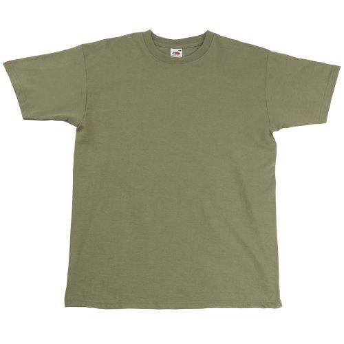 Fruit of the Loom Valueweight-T-Shirt für Männer, kurze Ärmel, Rundhalsausschnitt (kein V-Ausschnitt) Gr. XXXL, Olivgrün