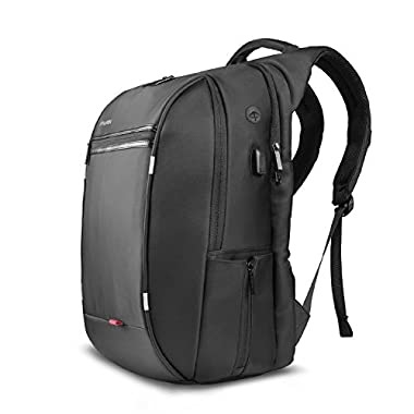 SPARIN Laptop Backpack, For Up to 17.3-Inch Laptops / USB Charging Port / Anti Thief College Shoulder Backpack Business Laptop Backpack, Black