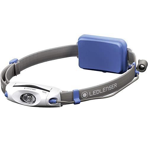 Ledlenser Stirnlampe NEO4 - LED Laufsport-Kopflampe mit rotem Rücklicht - batteriebetrieben - bis zu 40 Stunden Laufzeit - 240 Lumen - blau
