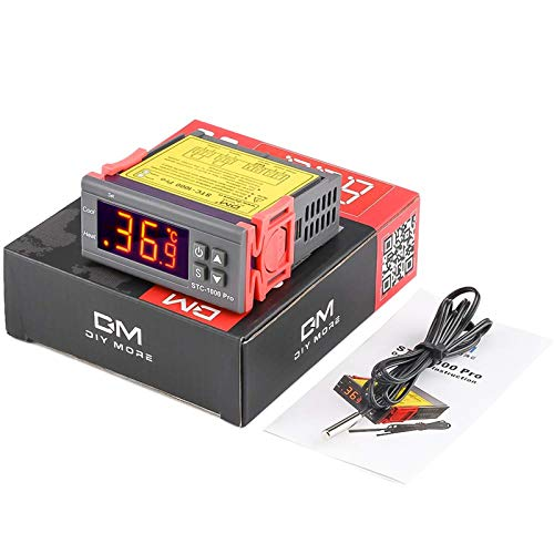 diymore AC 110V STC-1000 Pro Temperature Controller ℃ with NTC Sensor Replace STC-1000 Thermostat for Controlling Fridge Brew Beer Hatching