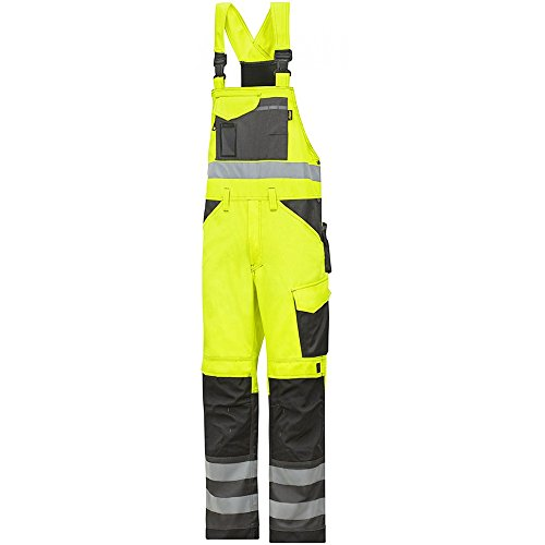 Snickers Workwear 0113 High-Vis Latzhose gelb Gr. 120, signalgelb-anthrazit