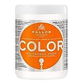 Kallos KJMN Color Haarcrememaske mit Leinöl und UV-Filter zum Schützen der Haarfarbe für...