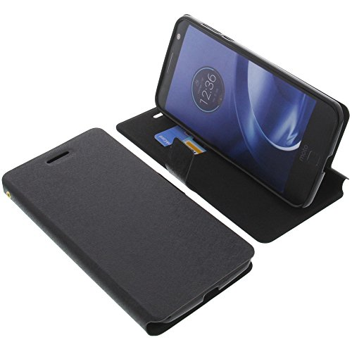 Tasche für Lenovo Moto Z Force Book Style schwarz Schutz Hülle Buch