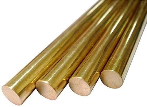 Wzqwzj Messingstangen Bar, Länge 500mm, 7mm bis 10mm Durchmesser,10mm