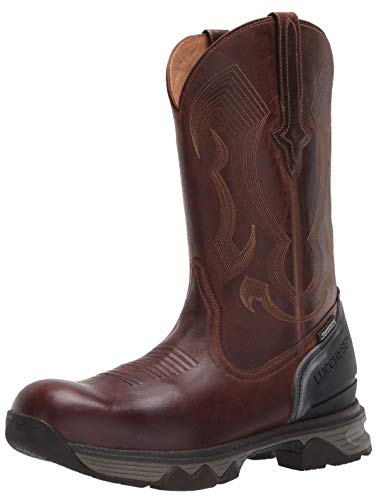Lucchese Bootmaker Men's Performance Molded 12' Pull ON: Nano Composite Toe & Waterproof Construction Boot, Hickory, 9.5 Medium Wide US