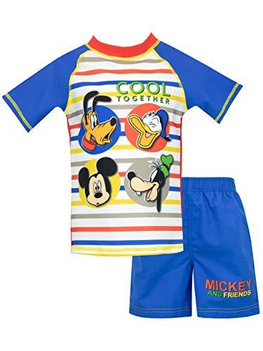 Disney Jungen Mickey Mouse Zweiteiliger Badeanzug Blau 80