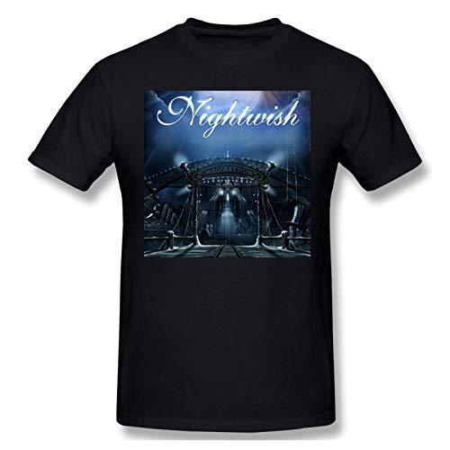 IUBBKI Camiseta básica de Manga Corta para Hombre Men Print with Nightwish_Grande Fashion Short Sleeve T-Shirt