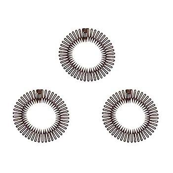 comb Headband full circle stretch comb 3pcs tooth flexible plastic comb headband clear for women girl