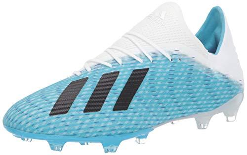 adidas Men's X 19.2 Firm Ground Soccer Shoe, Bright Cyan/Black/Shock Pink, 13 M US