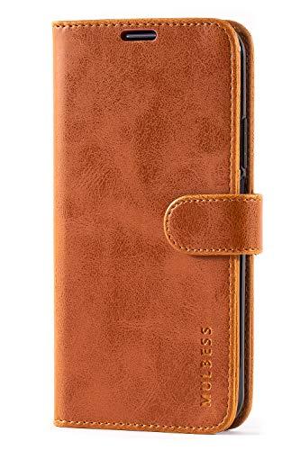 Mulbess Handyhülle für Honor 20 Pro Hülle, Leder Flip Case Schutzhülle für Huawei Honor 20 Pro / Honor20 Pro Tasche, Cognac Braun - 2