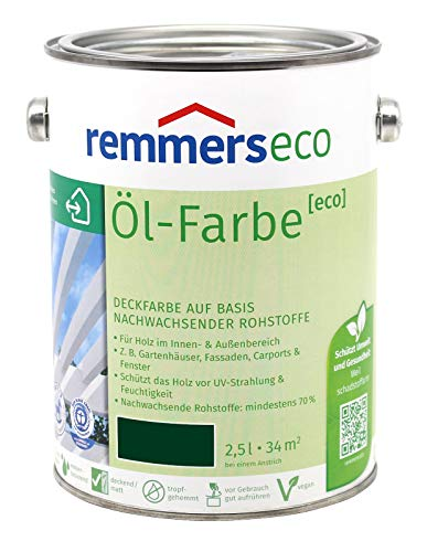 REMMERS ECO OEL-FARBE - 2.5 LTR (TANNENGRUEN RAL 6009)
