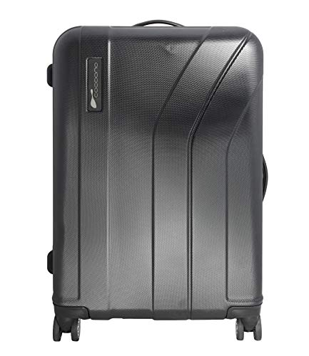 Cocoono Trend XL, 100% Polycarbonat, Hartschalen Trolley, Reisekoffer, Gepäck, TSA Schloss, 8 Rollen (schwarz, M), hochwertiger Trolley Perfekter Reisebegleiter