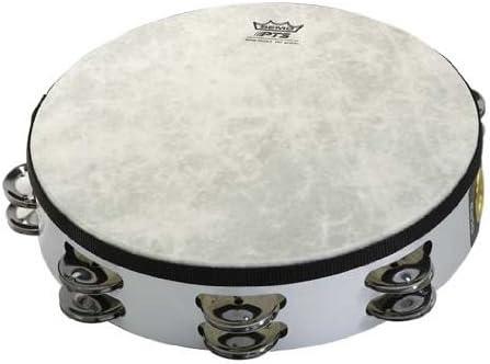 "Remo TA-5210-00 Fiberskyn Tambourine - Quadura White, 10"""