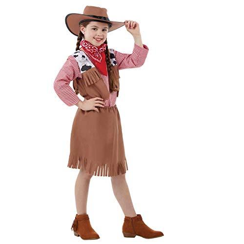 Fun Shack Braunes Cowgirl Kostüm für Mädchen - Extra-Groß