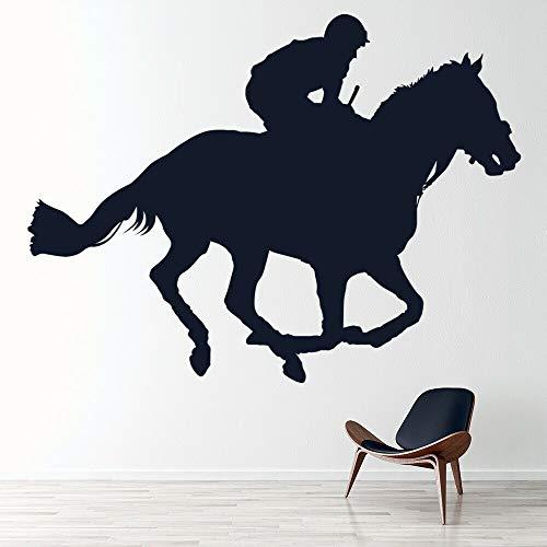 Tianpengyuanshuai Jockey Jockey Tatuajes de Pared Caballo Mural Cartel Dormitorio Juvenil equitación decoración 42X30cm