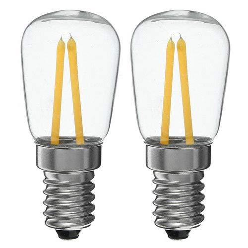 Lampadina per frigo E14 LED 2W Bianco caldo 3000K 15W alogena lampadina equivalente per mappamondo, lampade da comodino, confezione da 2 unità