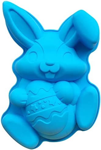 LARNOR Easter Bunny Rabbit Egg Mold DIY Chocolate Mold Cake Cookie Mould Baking Tool for Home product image
