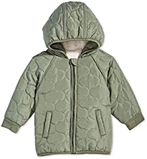 First Impressions Green Baby Boys Hooded Puffer Coat 3-6 Months