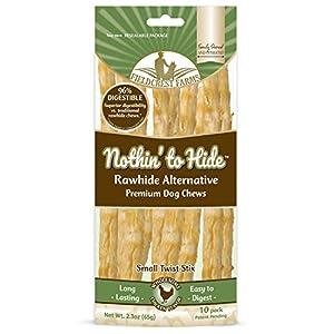 Fieldcrest Farms 30 Pack of Nothin' to Hide Chicken Stix Dog Chew, Small, Digestible Rawhide Alternative Treats