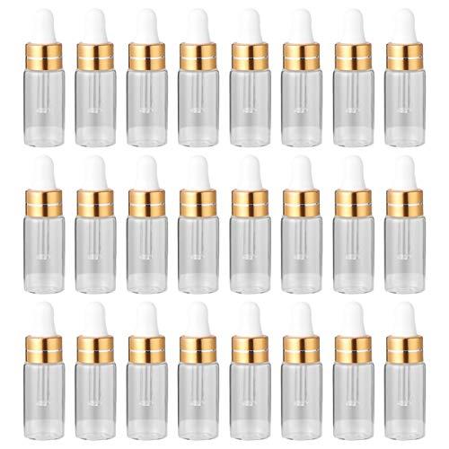 HEALLILY Eterisk Oljeflaska För Reseförpackning Flaska Flytande Tomma Flaskor Mini Flaska För Kvinnor 50St Gyllene