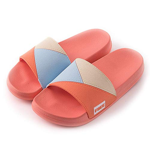 Slippers Heren Dames Sliders Non-Slip Douche Sandalen Summer Flip-Flops Soft EVA Sole Beach Pool Schoenen Badkamer Water Shoes Unisex volwassenen,Red,37/38EU