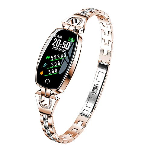 ESSONIO Fitness Tracker Body Health Measurement MultiFunction Sports Watch IP67 GPS Activity Sleep Monitor Tracking Pedometer Calories for Women Gold