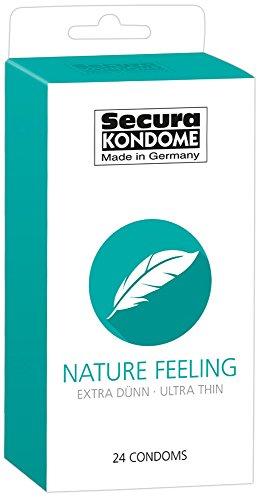 Secura Nature Feeling 24er Kondome - 24 hauchzarte Präservative zur Verhütung ohne Hormone für Männer, transparent