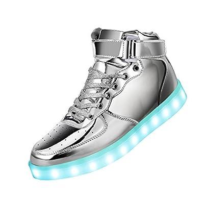 GreatJoy Cool Fun Light up LED Shoes Sneaker 7 Colors USB Charging 4b969a1cd